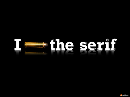 Desktop-Wallpaper-Thumbnail: I shot the serif